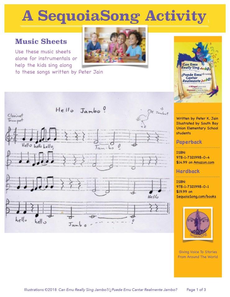 SequoiaSong Music Sheet For Jambo