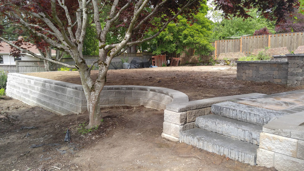 retaining wall ideas for sloped backyard sequoia stonescapes