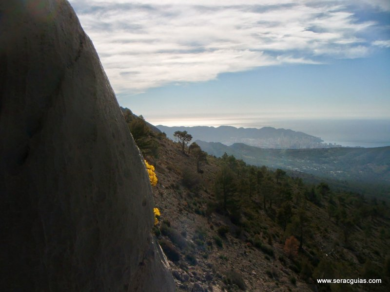 escalada Puig Campana 2 SERAC COMPAÑÍA DE GUÍAS