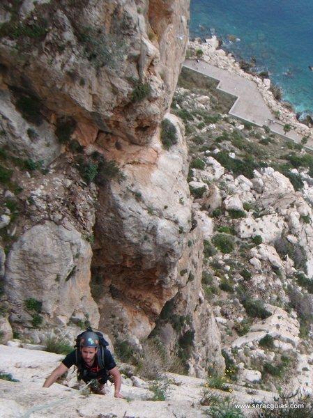 escalada Peñon Ifach 2 SERAC COMPAÑÍA DE GUÍAS