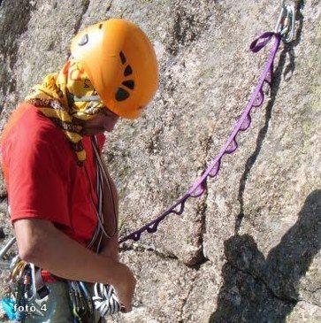 cabo anclaje daisy chain rapel escalada alpinismo SERAC COMPAÑÍA DE GUÍAS