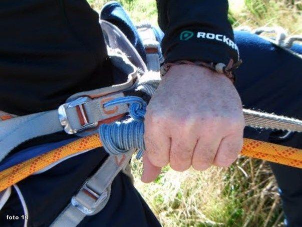 como usar nudo machard rapel escalada alpinismo SERAC COMPAÑÍA DE GUÍAS