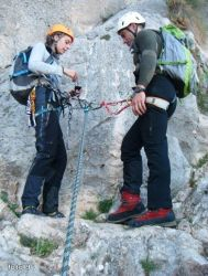 comprobacion mutua partner check rapel escalada alpinismo SERAC COMPAÑÍA DE GUÍAS
