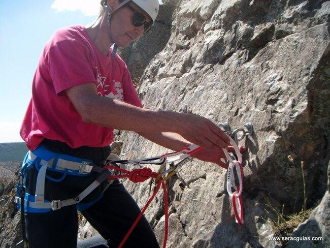 cabo anclaje multi chain rapel escalada alpinismo
