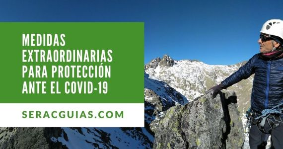 proteccion covid-19 montaña SERAC COMPAÑÍA DE GUÍAS