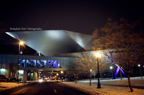Denver Art museum, night photography, Darkness, Colorado, Regan L Rouse