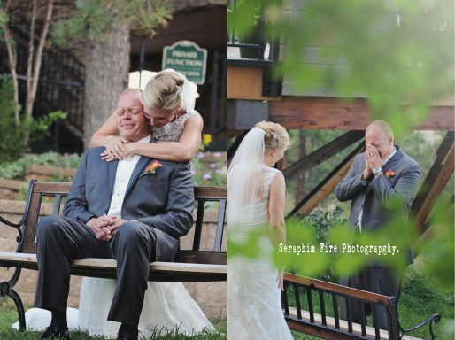 Colorado weddings, first look, groom moment, Seraphim Fire Photography