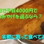 梅田で予算4000円でおみやげを選ぶなら?実際に買って食べてみた。