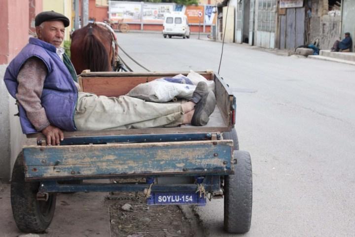 Edirne'de arabacı bir amca