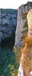 пред највишом литицом, где је кањон најдубљи