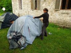 Тамара преферира шатор