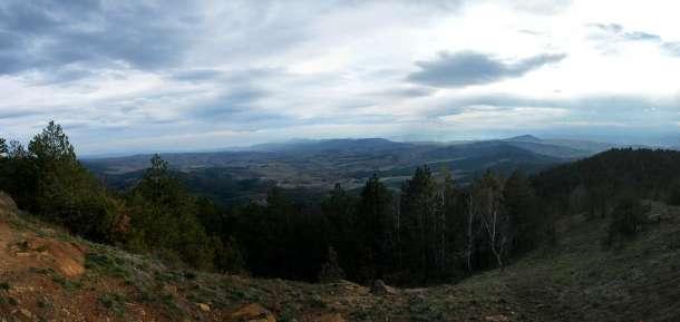Поглед са Црног врха према Тометином пољу