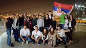 Serbs celebrating slava