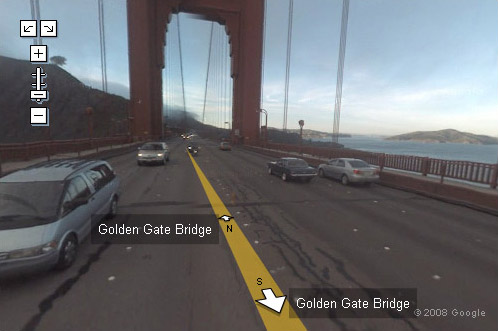 Google Maps   Golde Gate Bridge in Street View