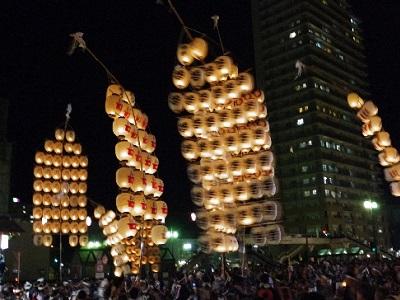 東北六魂祭の秋田竿燈まつり