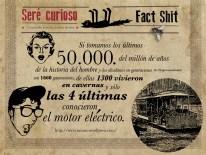 En la historia del hombre, sólo las últimas 4 generaciones conocieron el motor eléctrico.