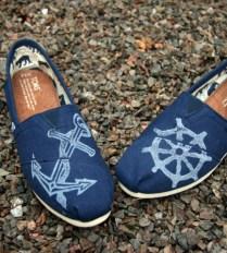 """blue """"suede"""" shoes"""