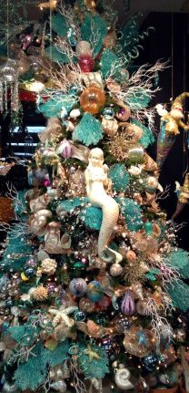 Beach Memaid Inspired Christmas Tree