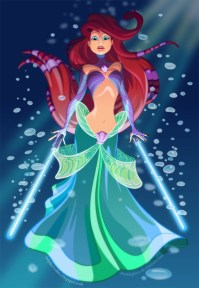 Ariel em versão Star Wars pelo artista Ralph Sevelius