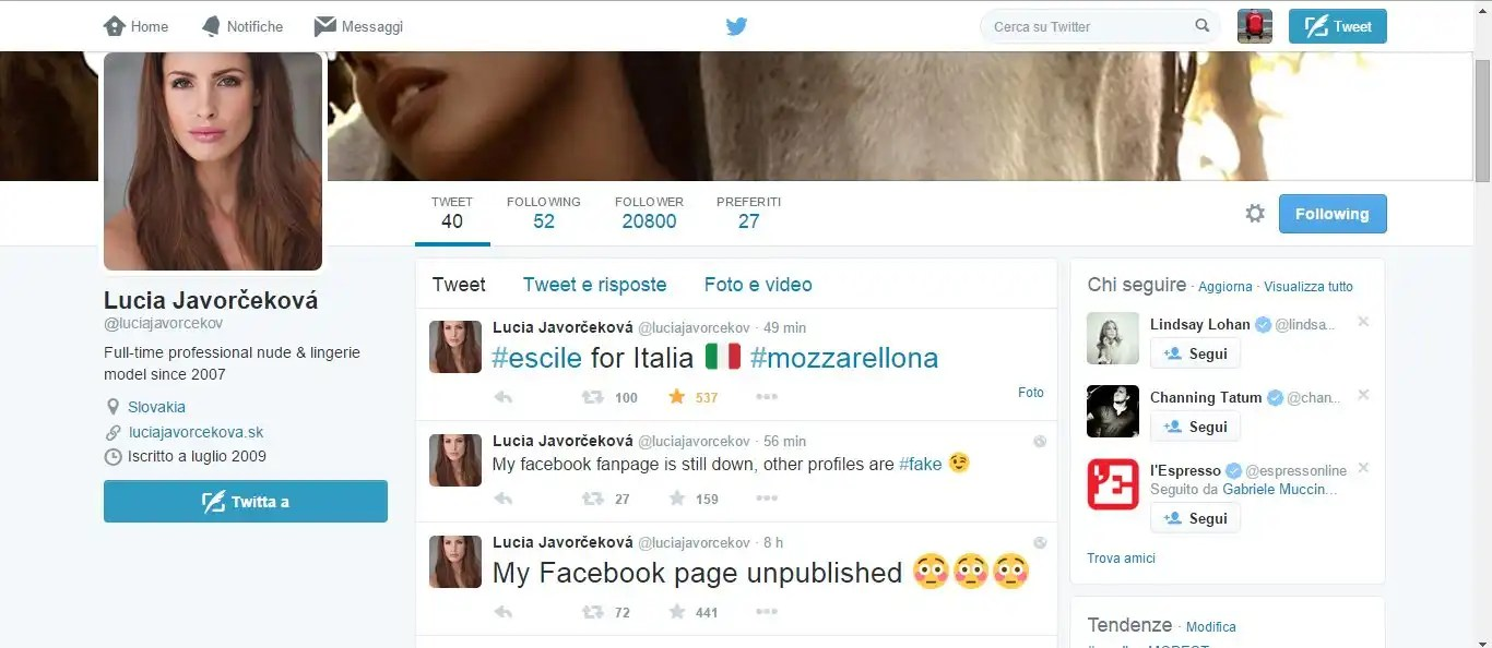 Lucia Javorčeková (in arte mozzarellona),è la nuovissima star del web