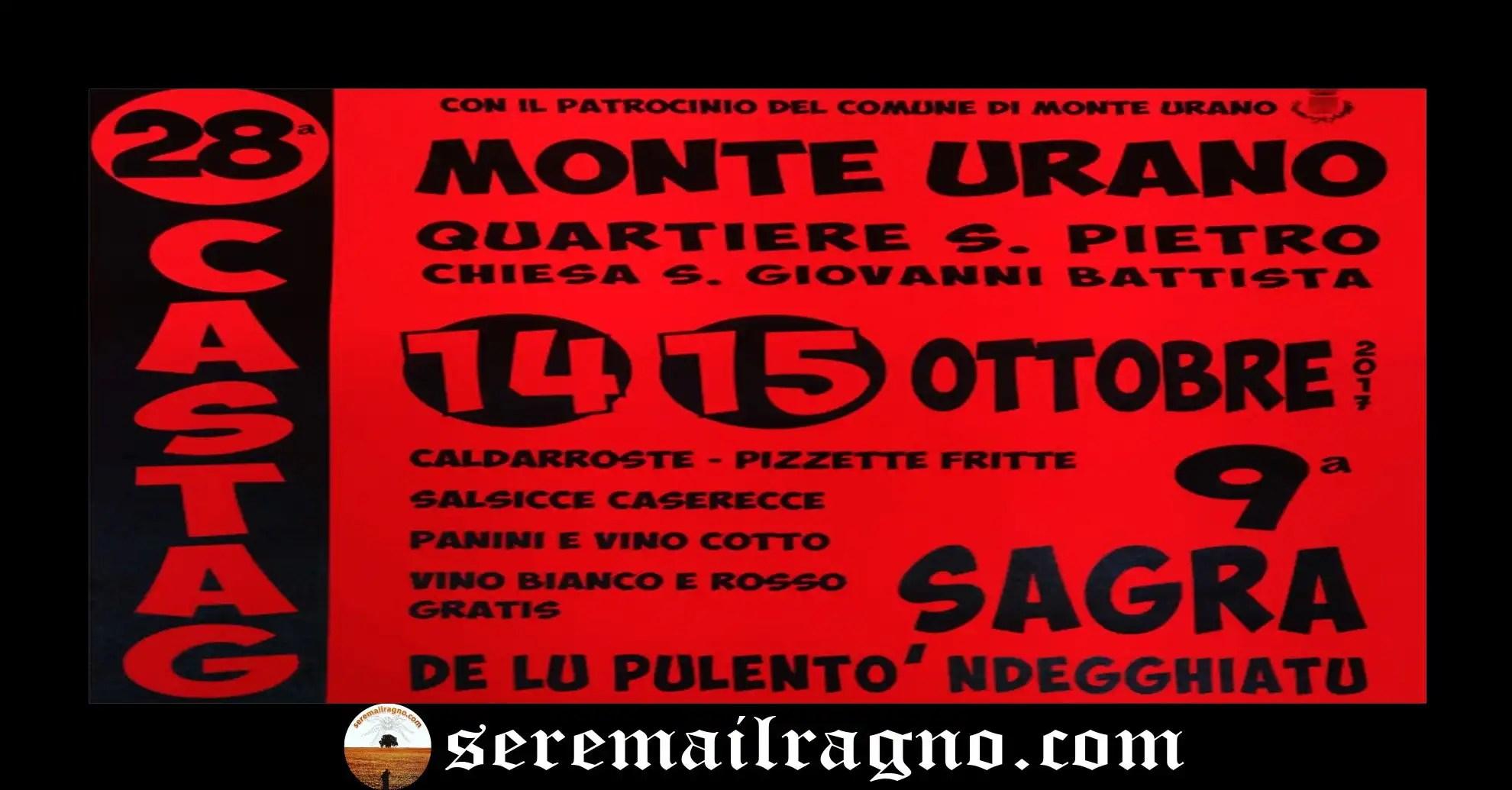 Monte Urano: 28° Castagnata e 9° Sagra de lu pulentò ndegghiatu