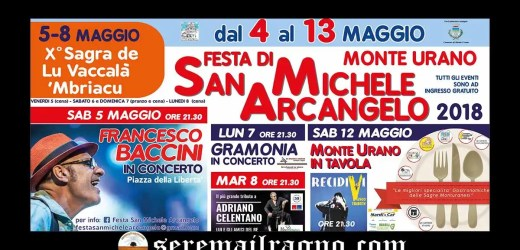 Monte Urano: Festa di San Michele Arcangelo 2018