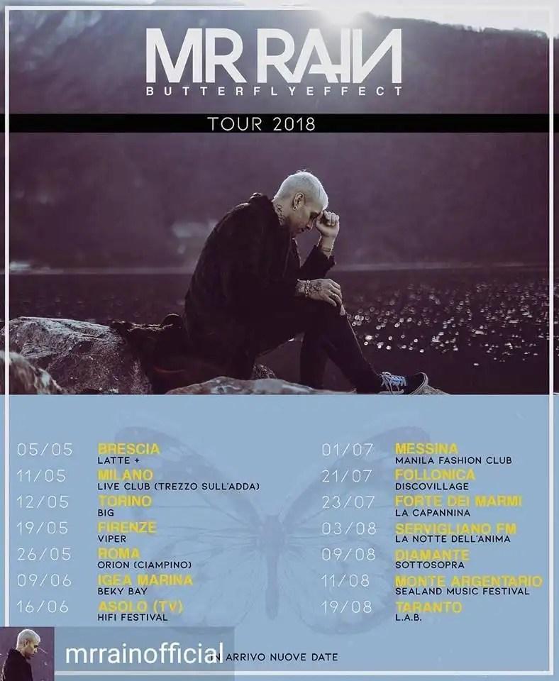 Notte dell'anima 2018 a Servigliano: ospite Mr. Rain