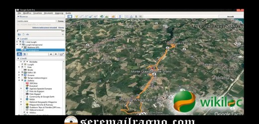 GPS: tracce Wikiloc automaticamente selezionate per Google Earth