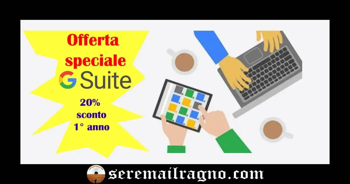 Coupon Sconto per G Suite Basic e G Suite Business