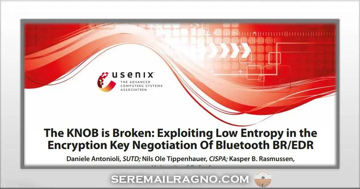 C'è una falla di sicurezza nelle comunicazioni Bluetooth
