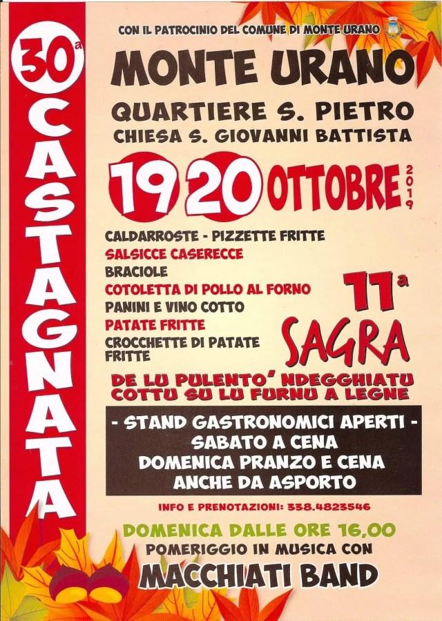 Castagnata 2019 Monte Urano