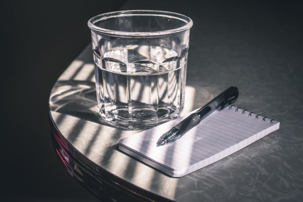 rituel du verre d'eau