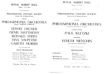 Copy of the programme sheets of some of the earliest concerts held at Royal Albert Hall on 13 April, 27 April – 11 May 1949 | Source: Wikimedia Commons
