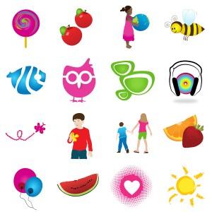 Kids Logo Elements & Icons