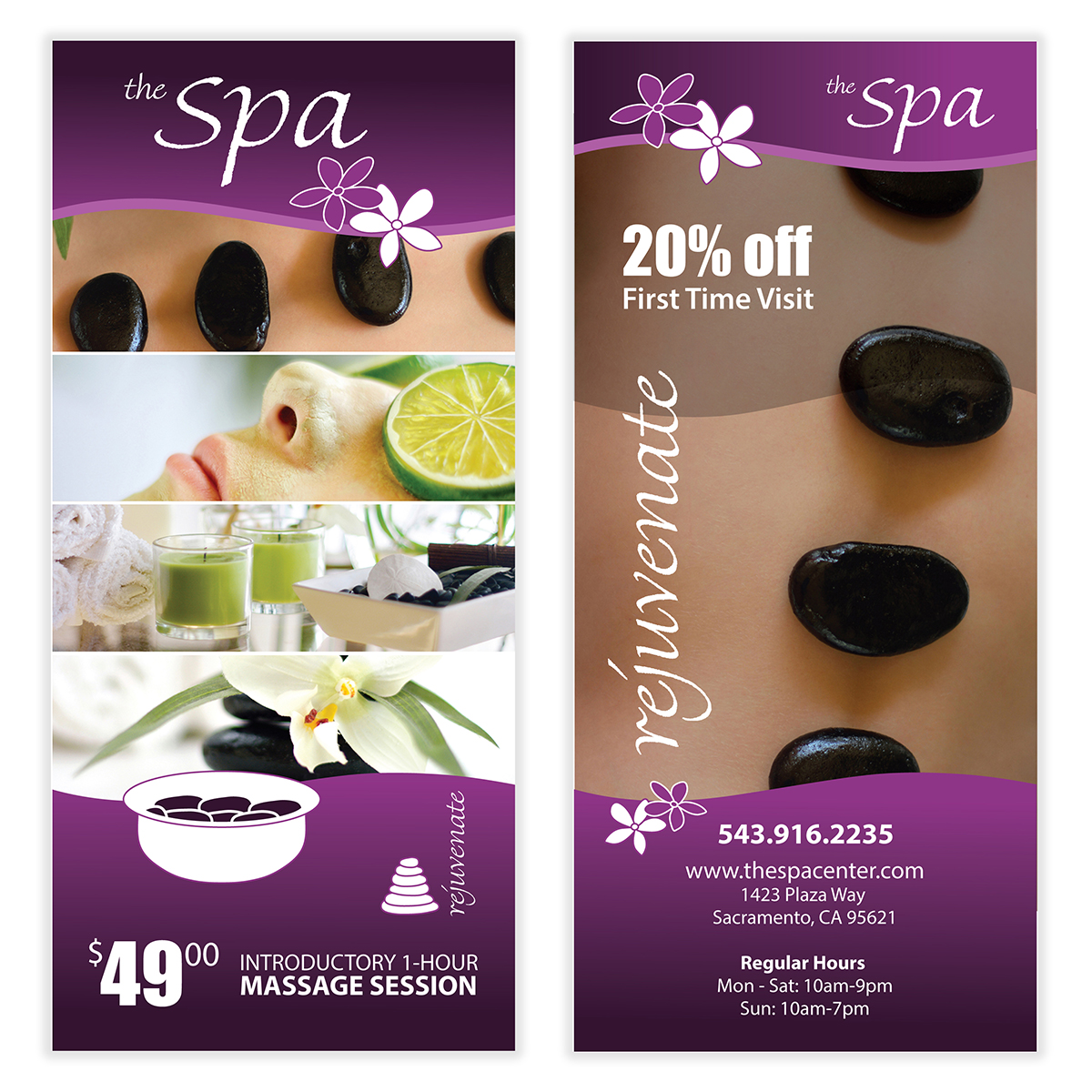 spa massage flyer template 05