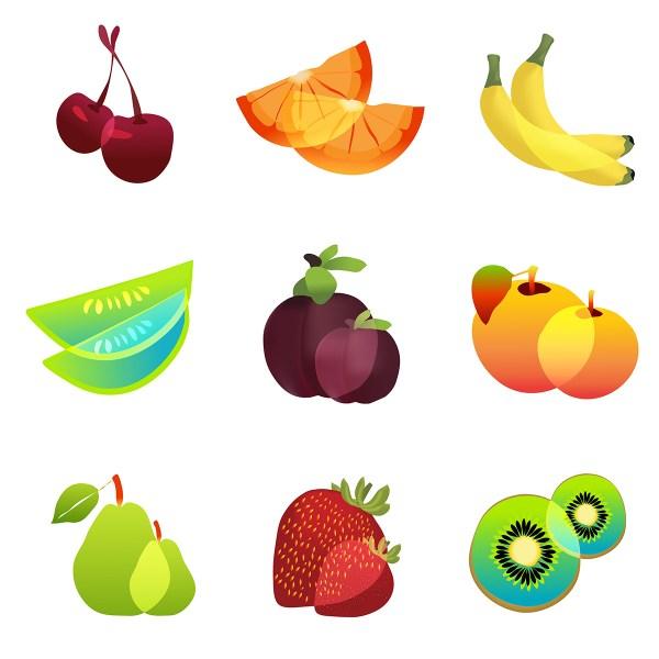 Vector Fruit Logo Elements & Icons