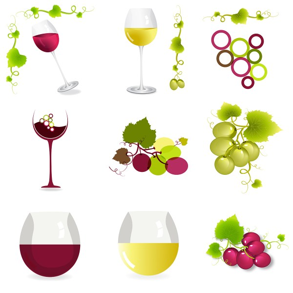 Wine Icon Set