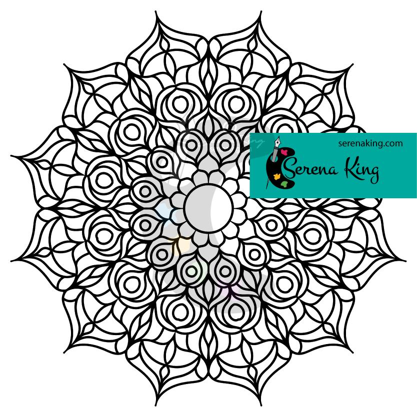 Flower Mandala Coloring Page