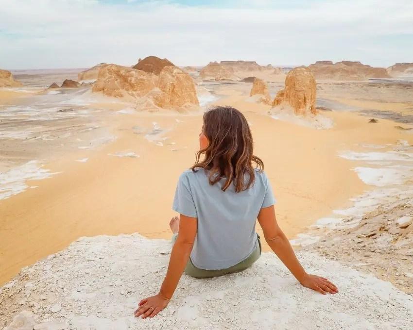 que ver en el desierto blanco de Egipto