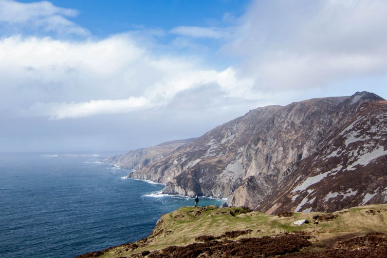 Ireland's lesser-known Slieve League cliffs in the northwest are among the tallest sea cliffs in Europe.