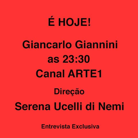 2017-11-09 E hoje - Giancarlo Giannini