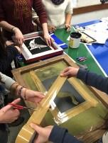 Imagenes tomadas en el liceo IAVA, durante su clase de comunicación visual.