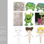 ilustración digital a partir de bocetos a mano
