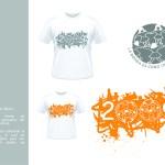 Diseño de camisetas para grupo de egresados de 5 años, del jardín 244.