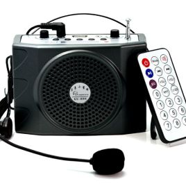 PORTABLE WIRELESS AMPLIFIER SPEAKER WITH HEAD MICROPHONE AND USB + MP3 + FM Radio And Bluetooth – AK-7220
