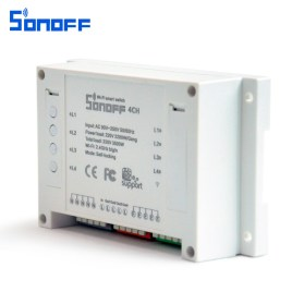 SONOFF 4CH 4 Channel 10A 2200W 2.4Ghz Smart Home WIFI Wireless Switch APP Remote Control AC 90V-250V 50/60Hz Din Rail Mounting Home Automation Module