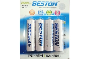"BESTON NI-MH RECHARGEABLE BATTERY 2500MA ""AA"" EACH"