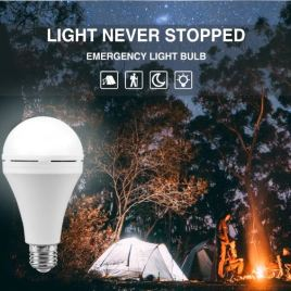 LED Emergency Light 220V 15W White LED Bulb Rechargeable Battery Lamp For Outdoor And Indoor