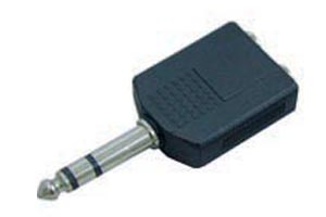 6.5mm Audio Adapter female PLUG & IN 2 6.5mm Audio Adapter AMP STEREO SOCKET