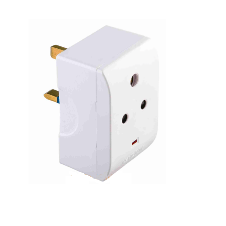 KEVILTON 13A Fused Multisocket Adaptor with light & 2 USB